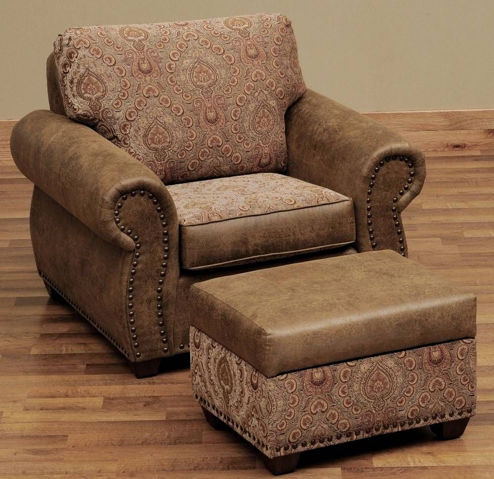 Burly Collection Leather Upholstered Lounge Chair With El Dorado Fabric By Wooded River Authorized Retailer Is