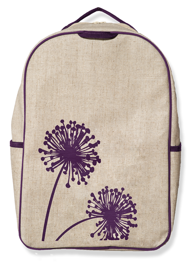 ae3a3dfb51 Purple Dandelion Grade School Backpack - SoYoung - eco-friendly bags and  accessories for the modern family - designed in Canada