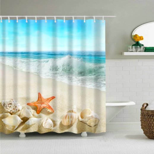 Ebay Sponsored Coastal Collection Fabric Shower Curtain 100 Cotton Sea Life Starfish Fabric Shower Curtains Starfish For Sale Shower Curtain
