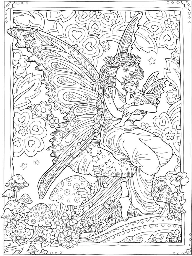 creative haven magical fairies coloring book dover samples fashions fantasy colouring. Black Bedroom Furniture Sets. Home Design Ideas