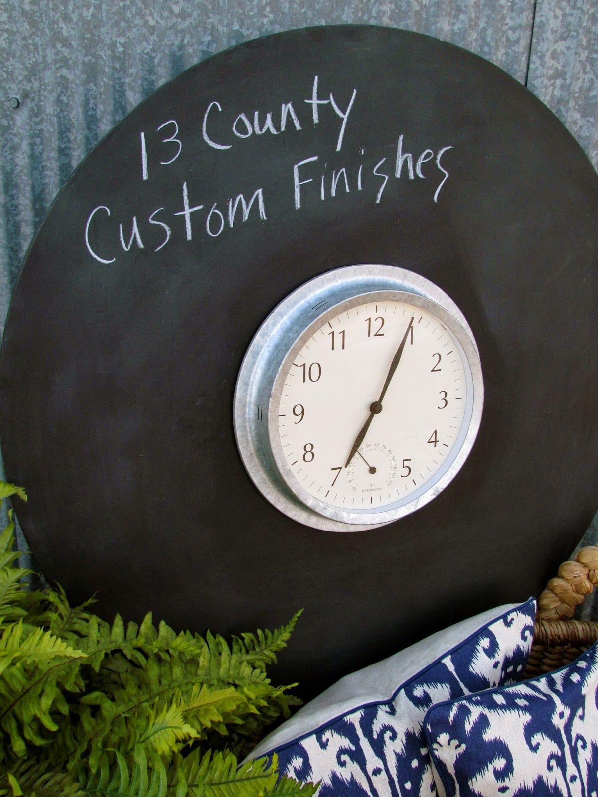 Magnetic Chalkboard Clock Magnetic Chalkboard Clock