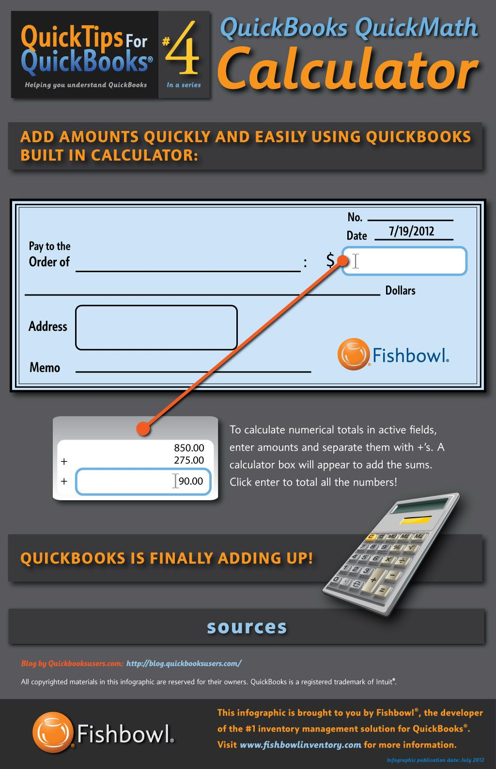 Quickbooks Tip 4 Quickbooks Quickmath Calculator