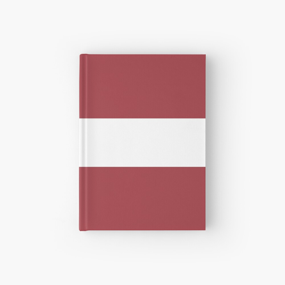 Flag Of Latvia Pattern Horizontal Stripes Red White Red Hardcover Journal By Disordershop Redbubble Horizontal Stripes Red And White Hardcover Journals