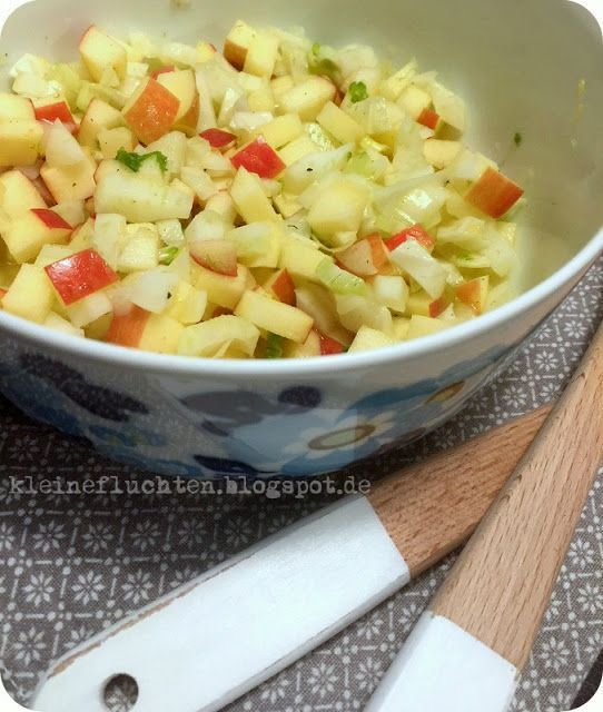 Schneller Fenchel-Apfel-Salat (kleine fluchten) #Äpfelverwerten Schneller Fenchel-Apfel-Salat | kleine fluchten | Bloglovin' #Äpfelverwerten