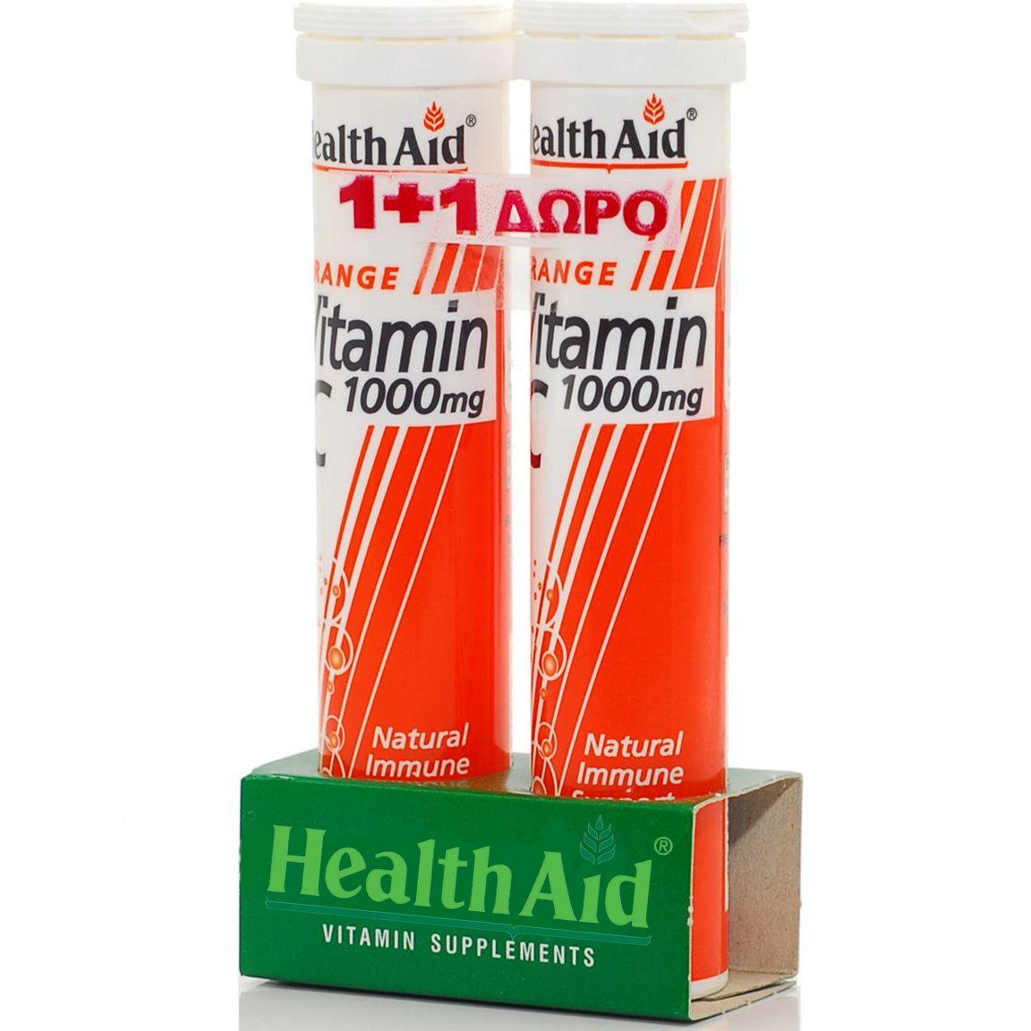 Πακέτο Προσφοράς Vitamin C 1000mg Orange 1+1 Δώρο 2χ20eff