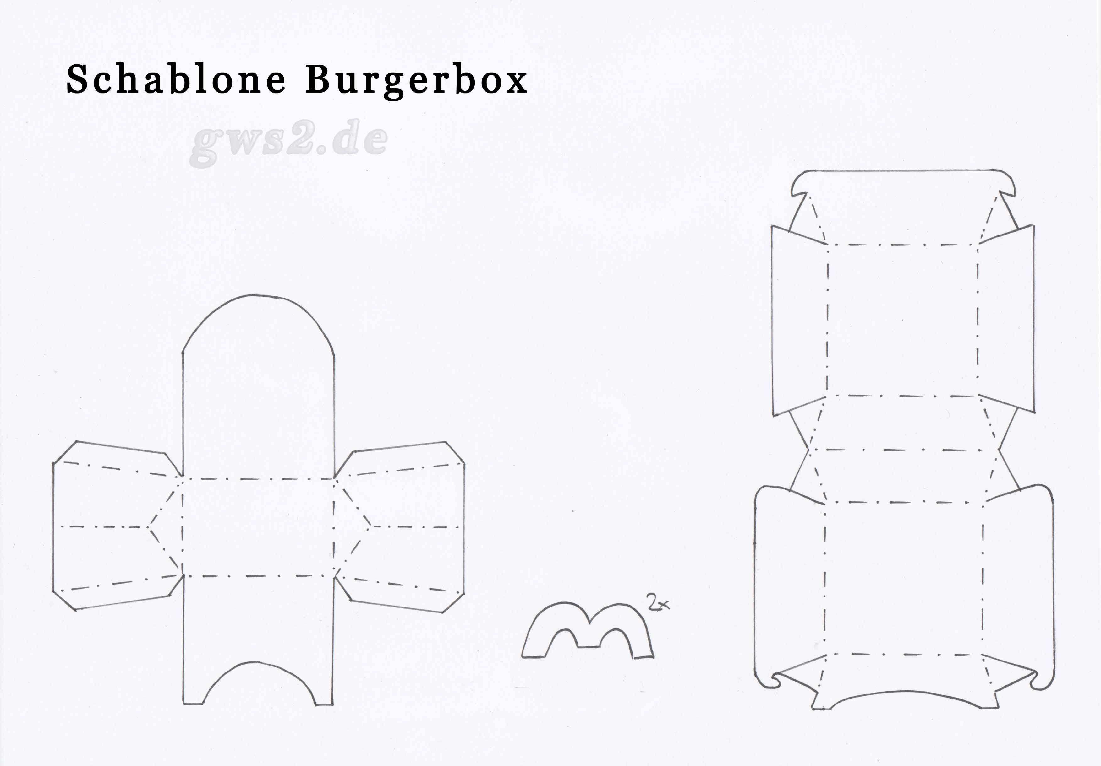 Box Templates Hamburger