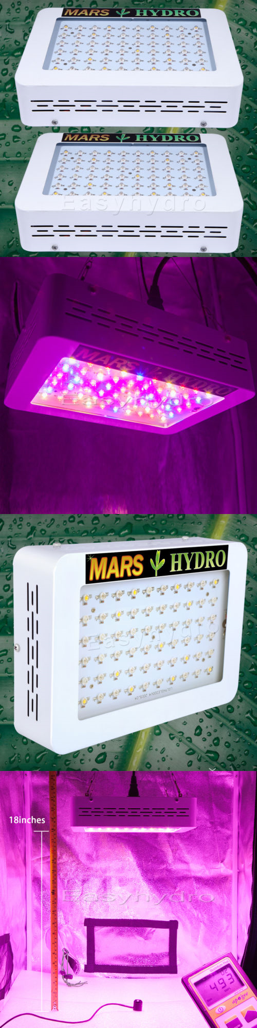 grow light kits 2pcs mars 300w full spectrum led grow light fveg flower indoor