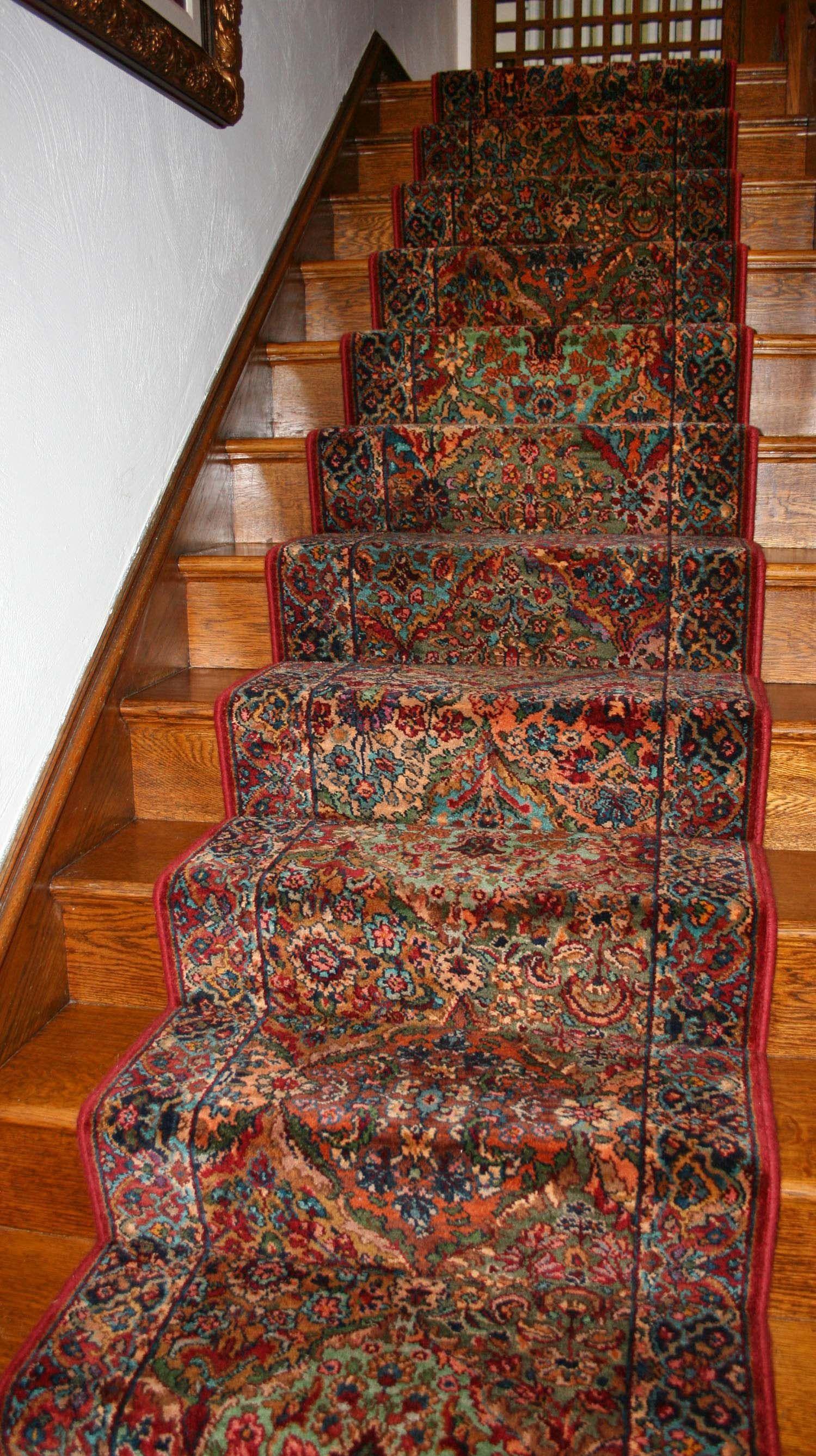 Custom Staircase Wool Custominstallation Oriental Stairs   Oriental Carpet Stair Treads   Kings Court   Stair Runner   Carpet Runners   Rug Depot   Flooring