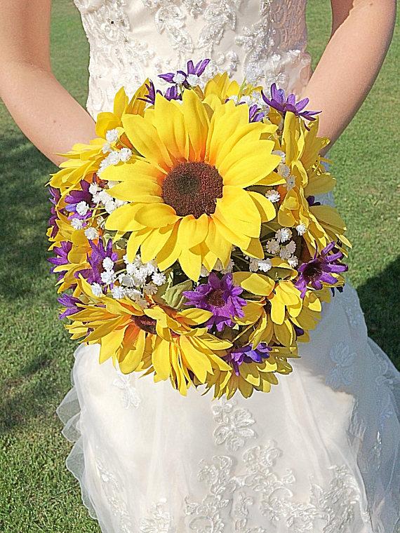 Rustic Sunflower Bouquet Country Sunflower Bouquet Sunflower