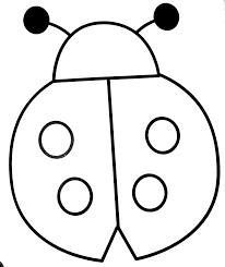 image result for simple lady bug template nature art ladybug
