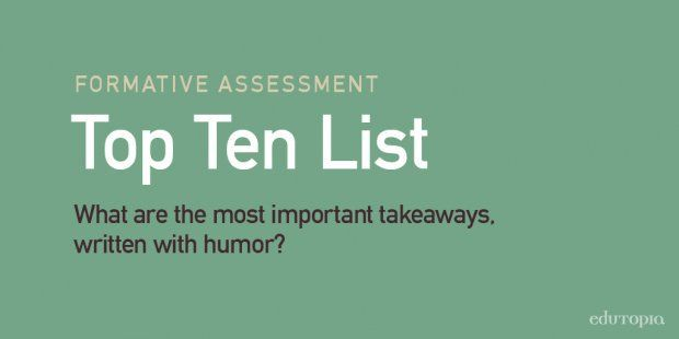 10 Fun-Filled Formative Assessment Ideas Ideas, Tops and Fun