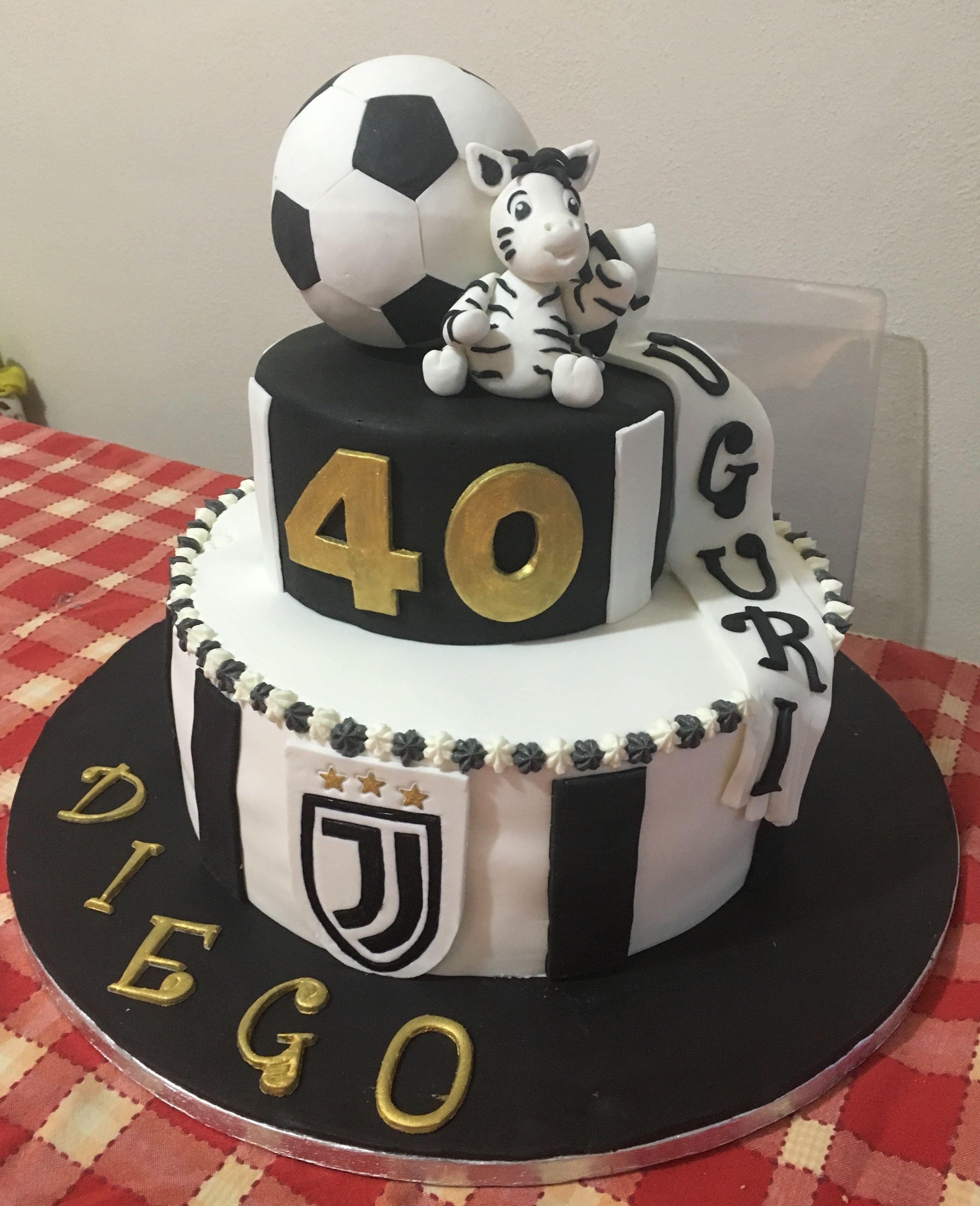 Torta squadra Juventus in pasta di zucchero