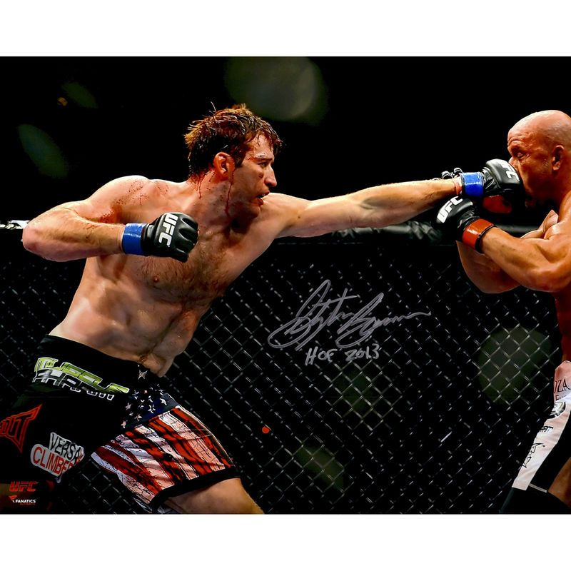 Stephan Bonnar Ultimate Fighting Championship Fanatics Authentic Autographed 16 X 20 Throwing Punch Photograph With Hof 2013 Inscription Ultimate Fighting Championship Ufc Fight Night Ufc