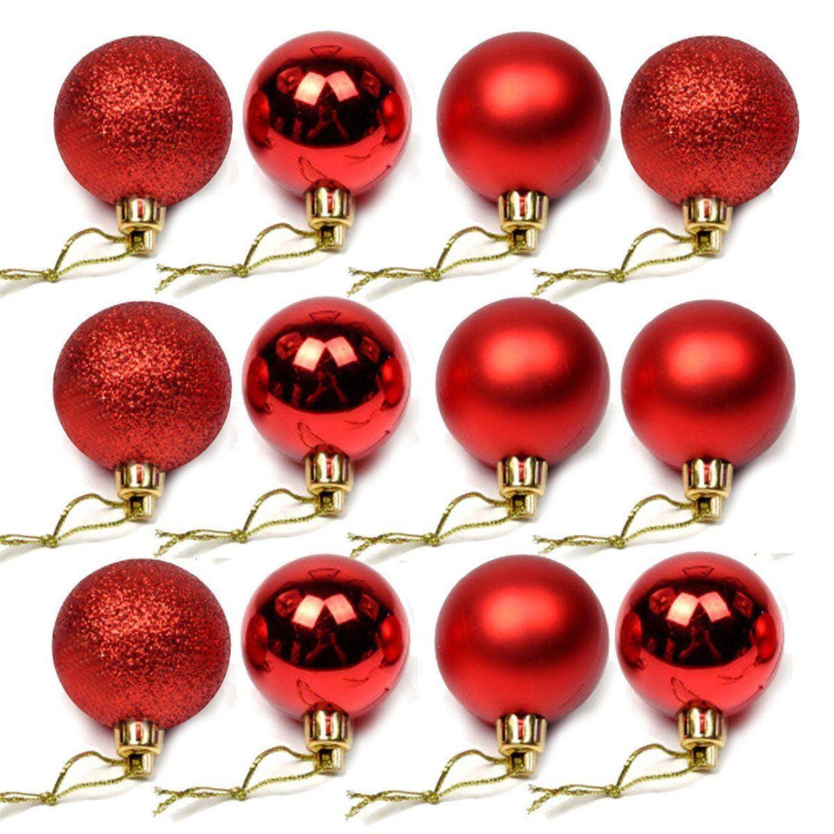 Yyaaloa 24pcs Exquisite Balls Ornaments 1 57 For Christmas Tree Decor Decoration Ball Decorative Ornament Set Christmas Tree Decorations Christmas Decorations