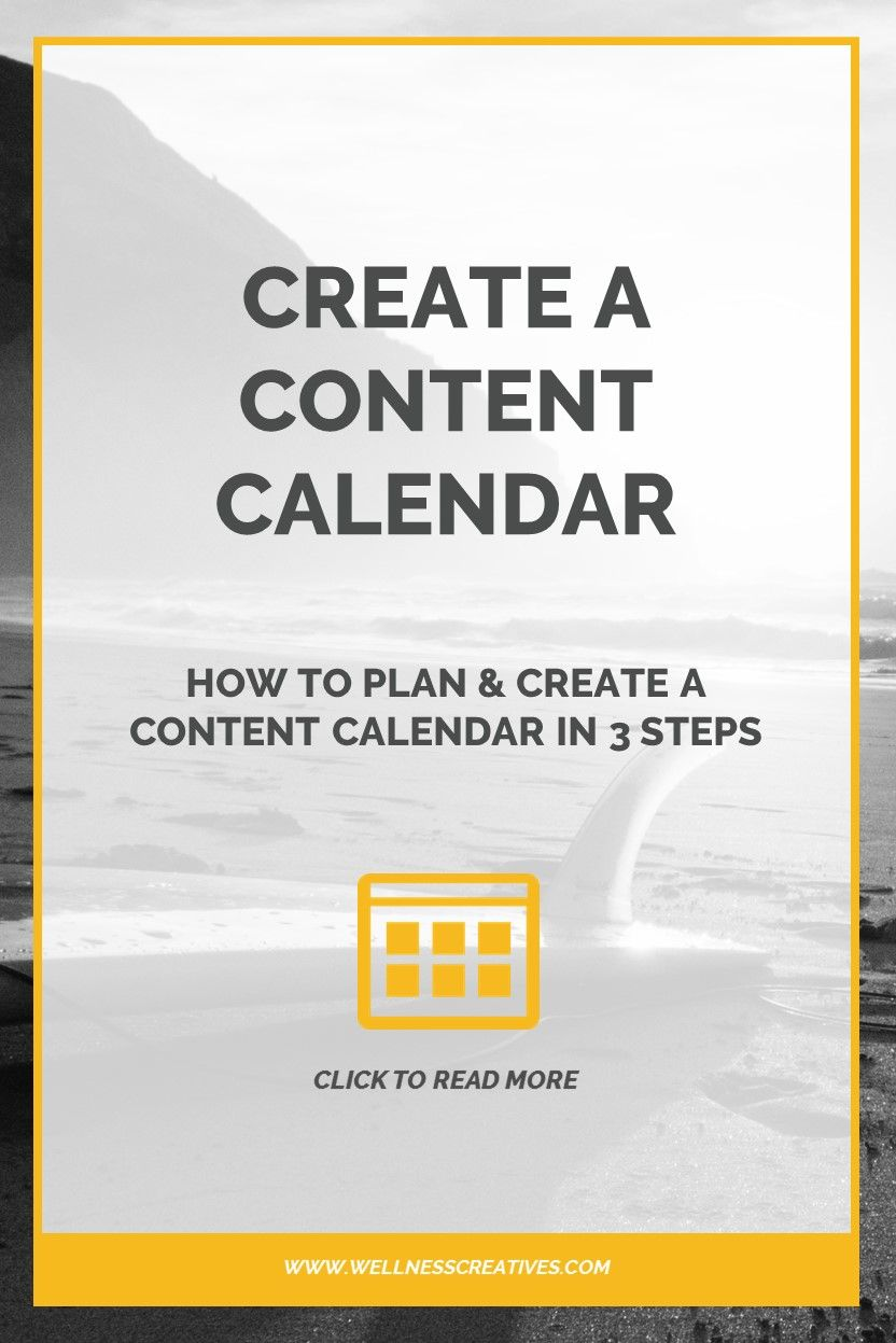 Plan And Create A Content Calendar In  Simple Steps Designed