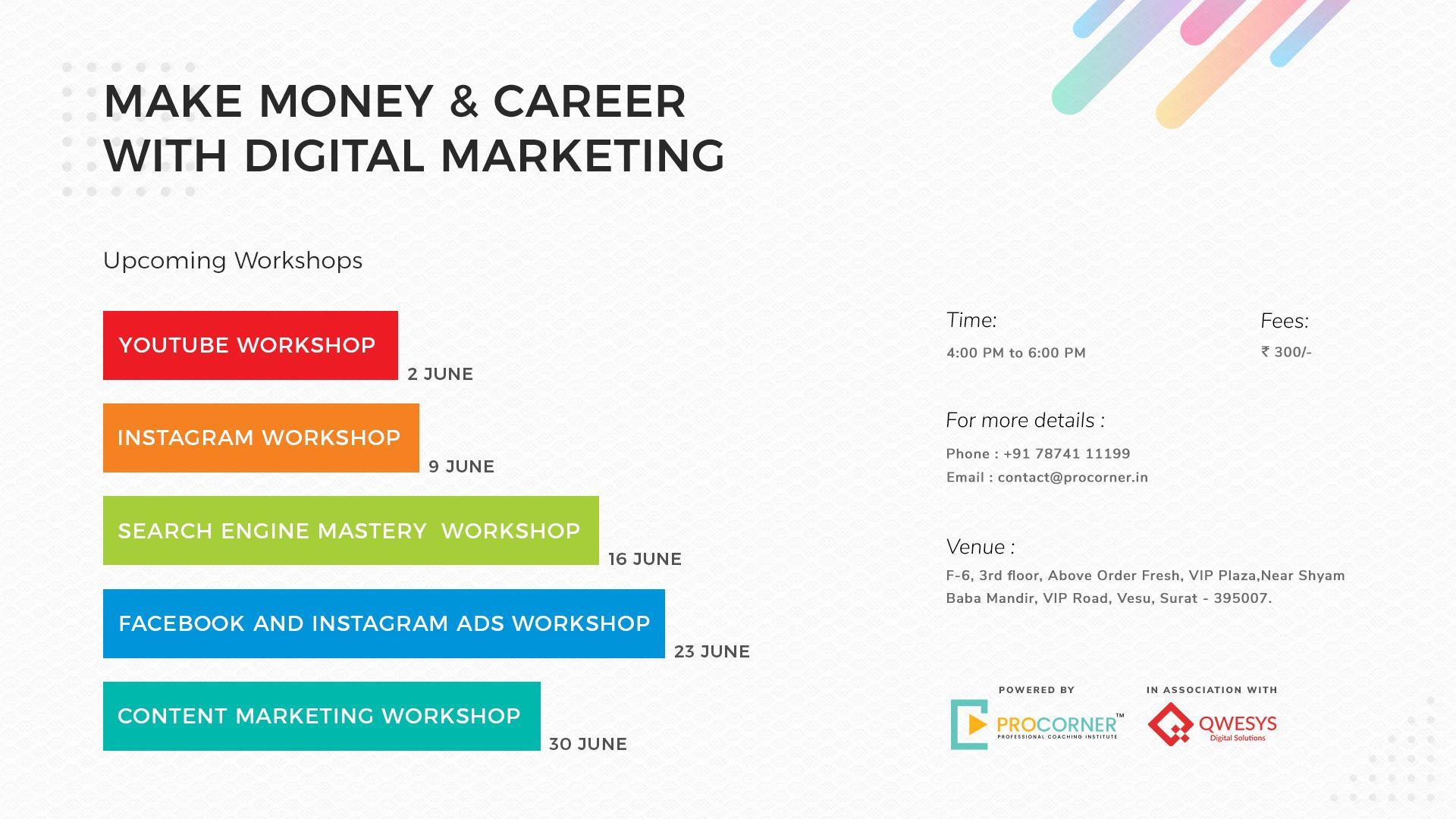 Digital Marketing Workshop Banner #logo #ux #ui #creative