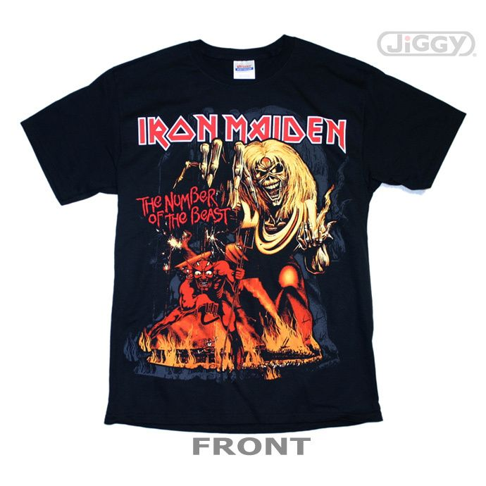 Iron Maiden Number Of The Beast Album Cover T Shirt Iron