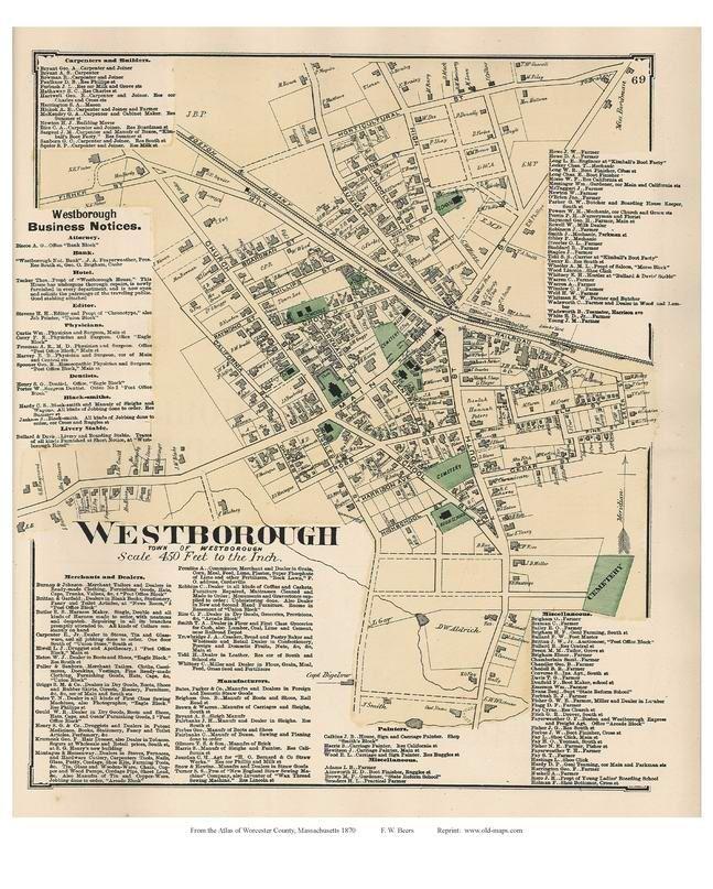 Victorian Industrial Historic Massachusetts Art MA Map 1880 Vintage Boston
