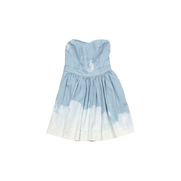 89f4fdd4f09 Ksubi Dresses White Wash Denim Empire Waist Dress - StyleCaster ❤ liked on  Polyvore featuring dresses