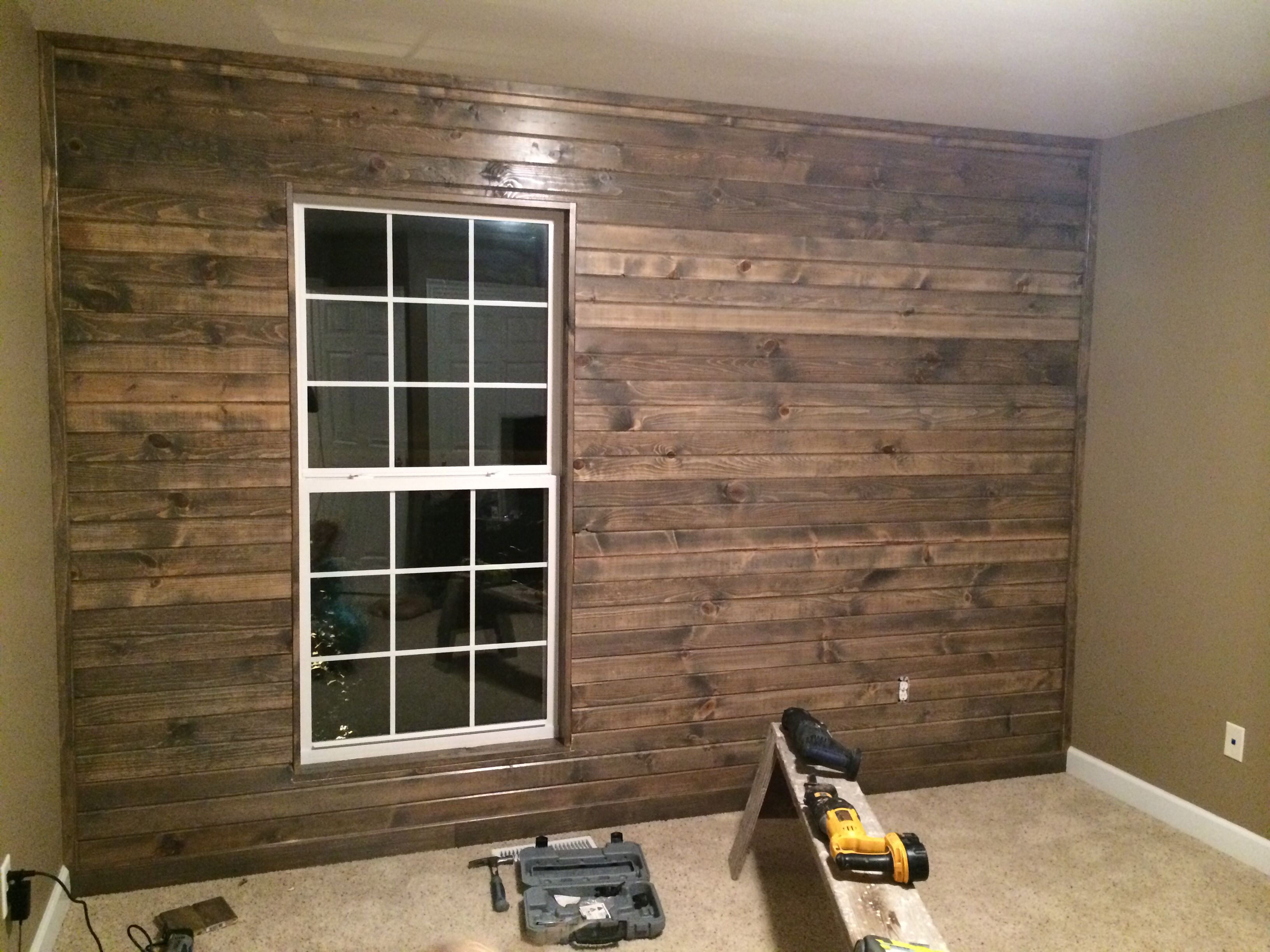 Best Stain Knotty Pine To Look Like Barn Wood Originally I 400 x 300