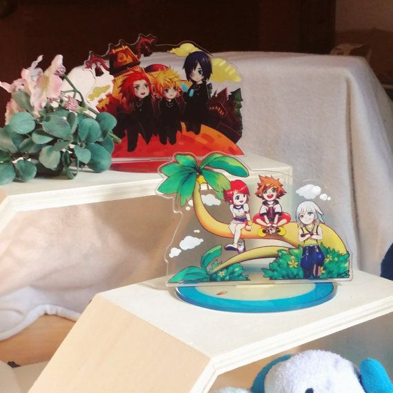 Kingdom Hearts trios acrylic stands | Acrylics and Characters