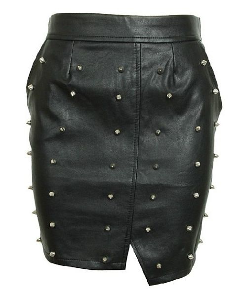 Leather + studs