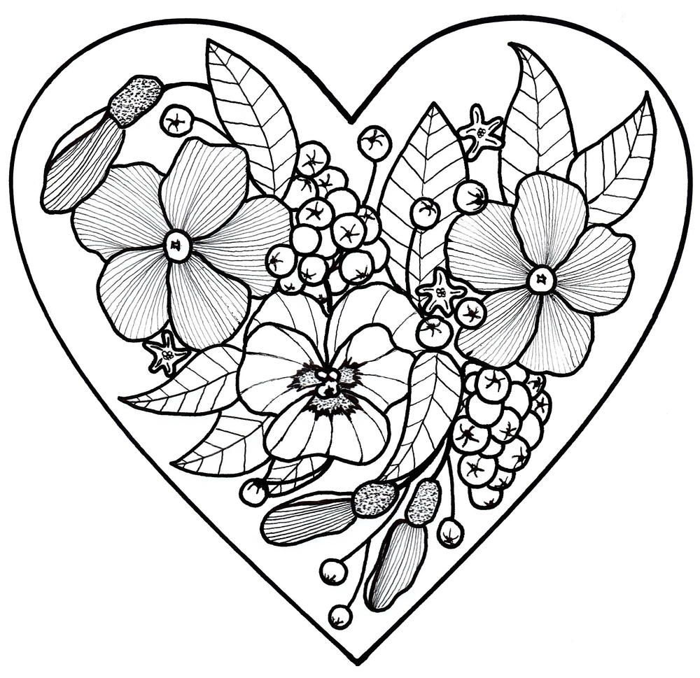 All My Love Adult Coloring Page Abstract coloring pages