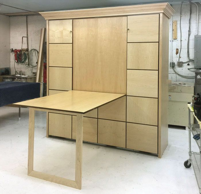 Multiple fold down tablemurphy bed options Addition bedroom