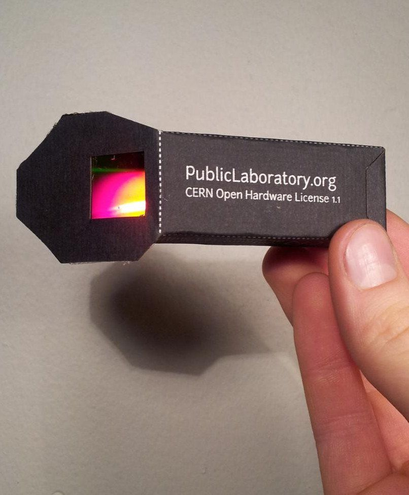 papercraft spectrometer intro kit
