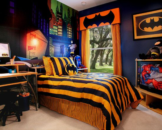 batman themed bedroom | dream bedrooms for children | pinterest