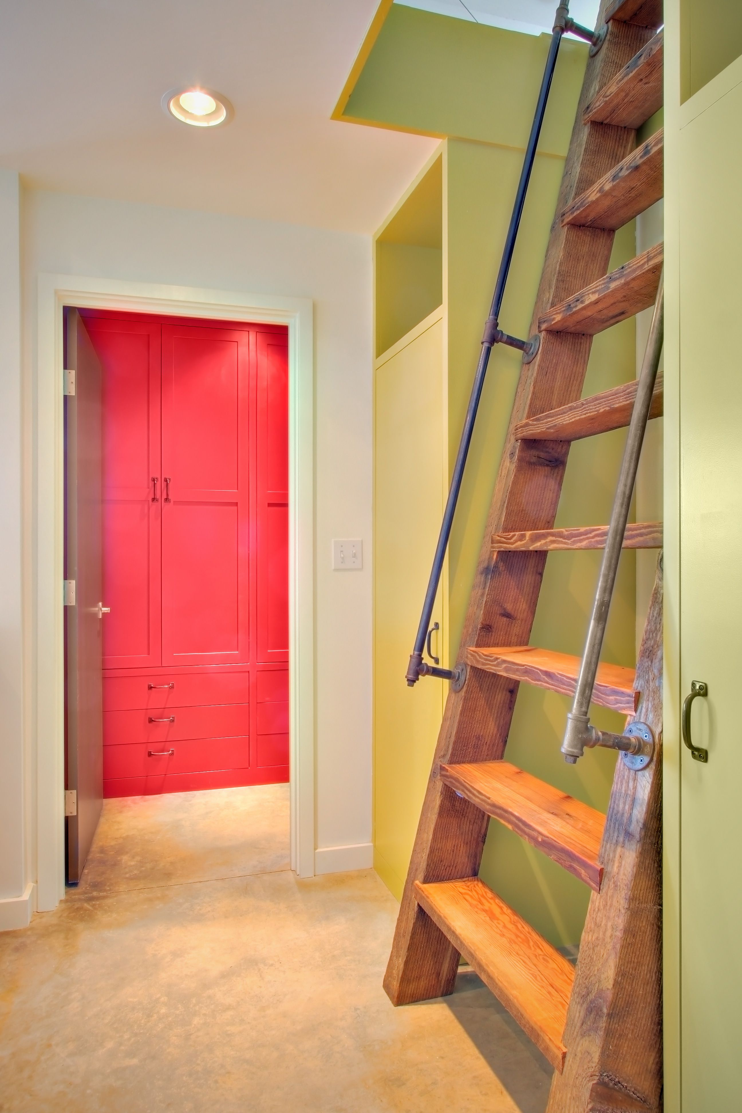 Vertical Wall Attic Ladder Stairs Design Rustic Stairs Farmhouse Stairs