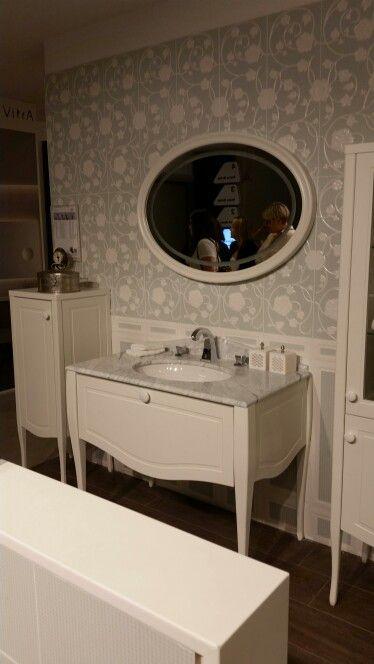 Vitra elegance undercounter washbasin and mirror