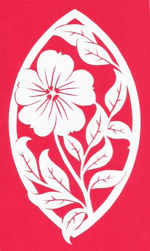 Cut Paper Design Flower In A Marquis Frame Crafts Silhouette
