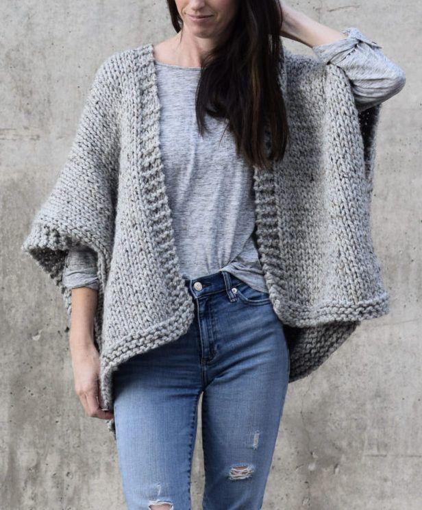 Free Knitting Pattern for Easy Telluride Kimono | Stricken ...