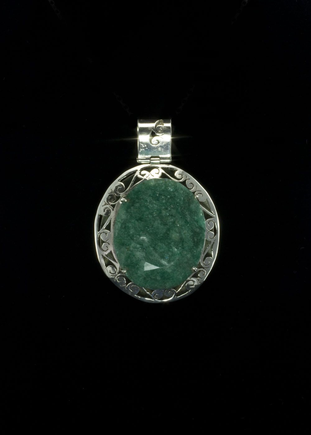 emerald silver itm ebay natural ct pendant diamonds sterling with in