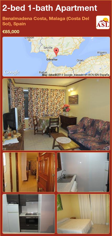 2-bed 1-bath Apartment in Benalmadena Costa, Malaga (Costa Del Sol), Spain ►€85,000 #PropertyForSaleInSpain