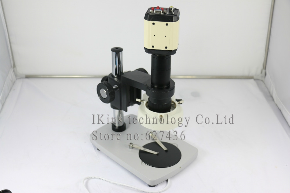 131.59$  Buy now - http://alivom.worldwells.pw/go.php?t=32704418939 - 3 in 1 HD 2MP Digital Industry Industrial Microscope Set Camera Magnifier VGA USB AV TV Video Output 180X C-MOUNT  Lens PCB Lab 131.59$