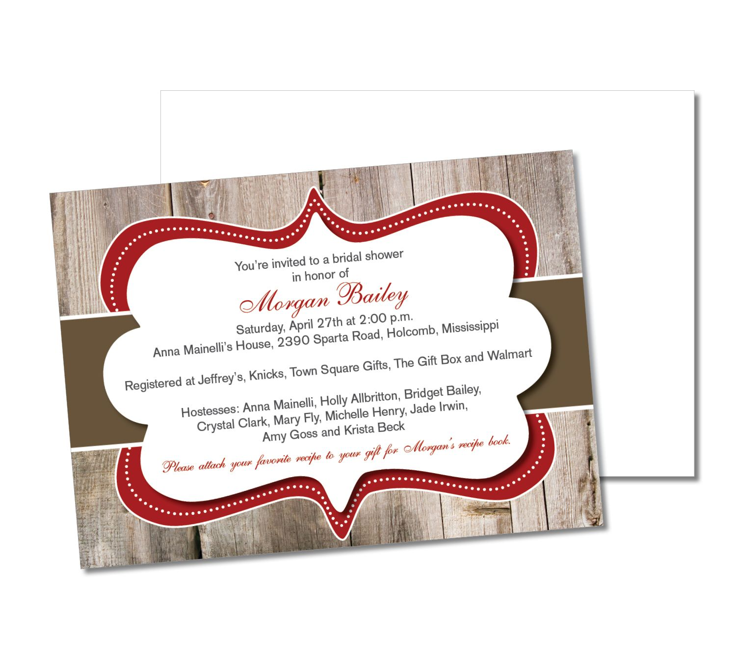 wooden wood stripe vintage ornate ornament red and brown wedding ...