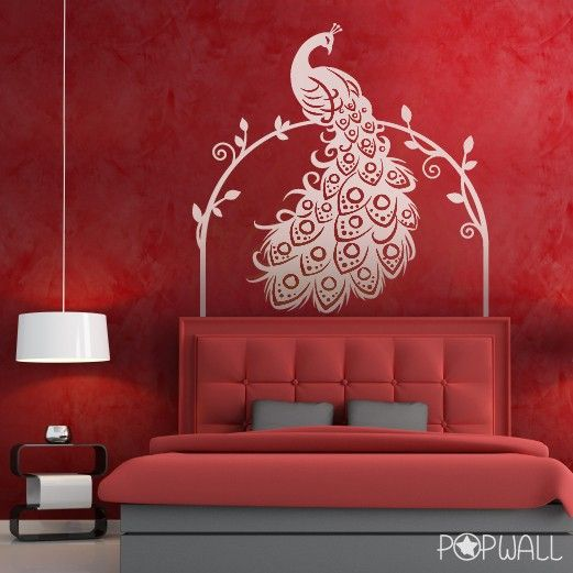 Captivating Peacock Wall Decal Bird Animal Wall Decal Wall Sticker By NouWall, $65.00 Part 13