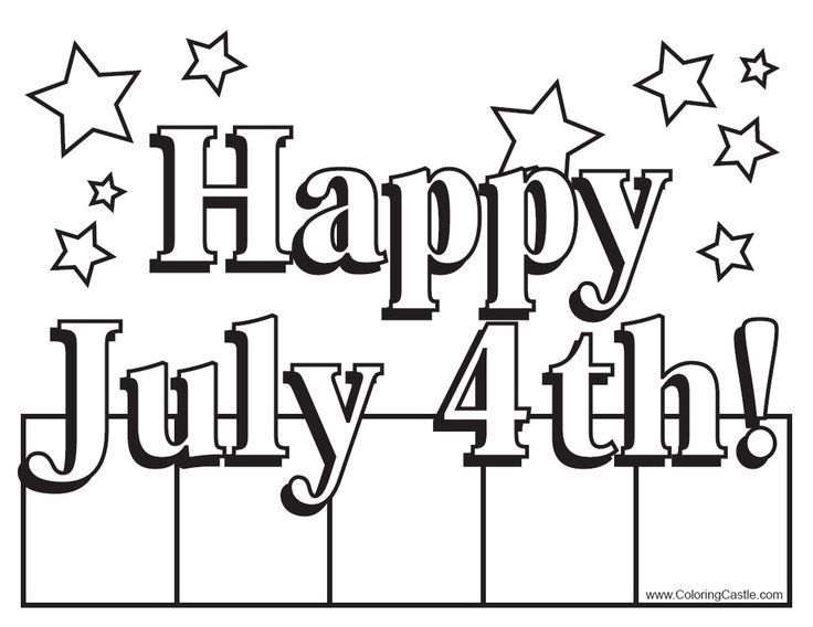 4 of july coloring pages happy july 4th sign coloring page