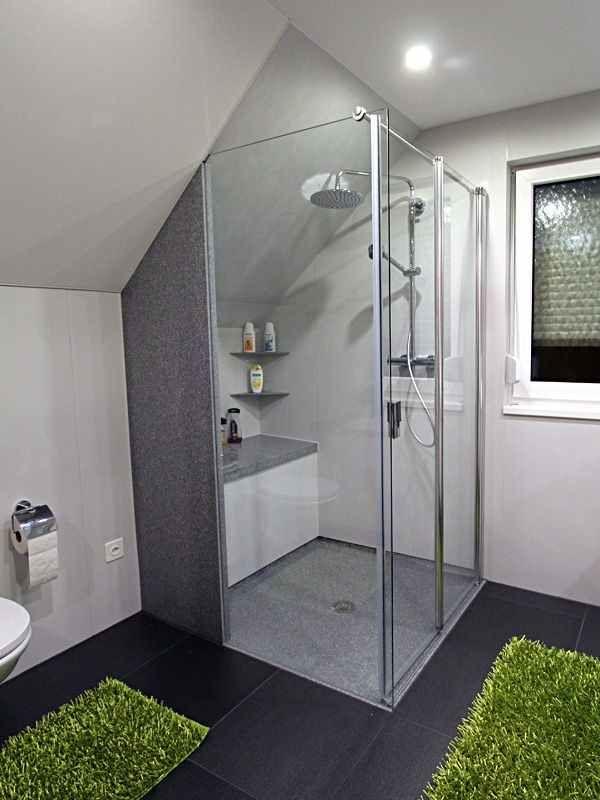 24h Badrenovierung Badezimmer Dachschräge Duschkabine
