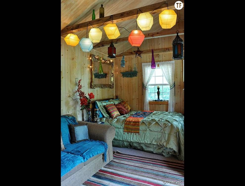 30 idées de déco bohème repérées sur Pinterest : la chambre (5 ...