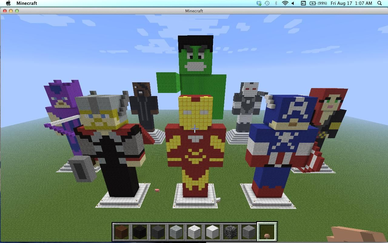 minecraft pe screensho superhero