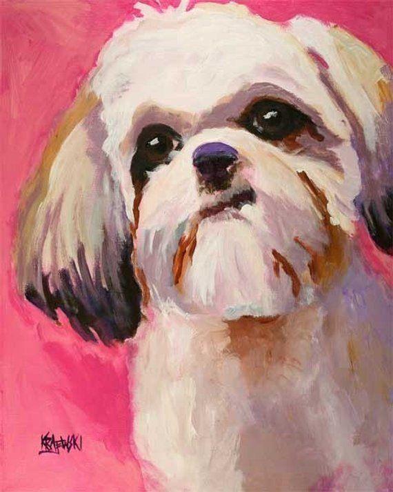 Husky Dog 11x14 signed art PRINT RJK from painting