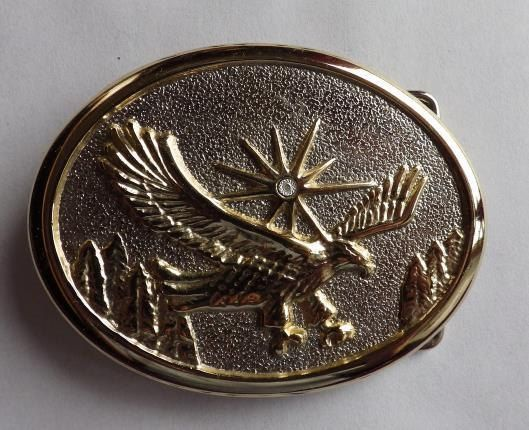 17c8e950811b2 Beautiful vintage Gold and Silver American Flying Eagle Belt Buckle W/ Diamond! just $35 #DadsBeltBuckles
