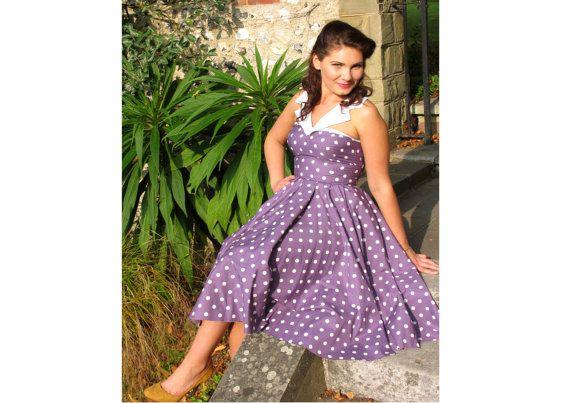 Penny Polkadot Swing Circle Dress Collar by FullilovesDesigns