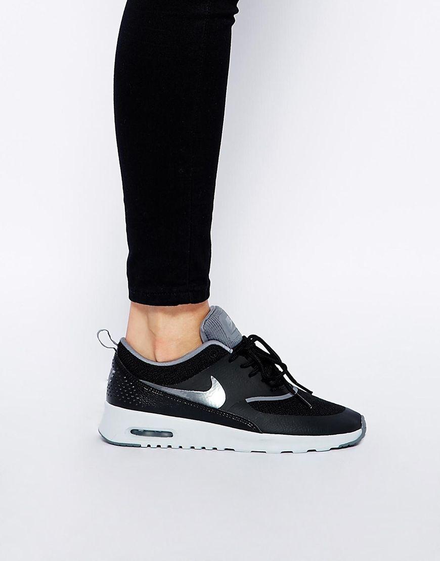 size 40 bdf28 2a18c Nike   Nike Air Max Thea Black Trainers at ASOS