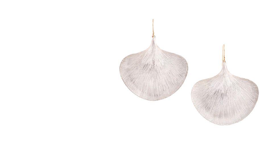 Broken English - Ginko  Leaf Earrings