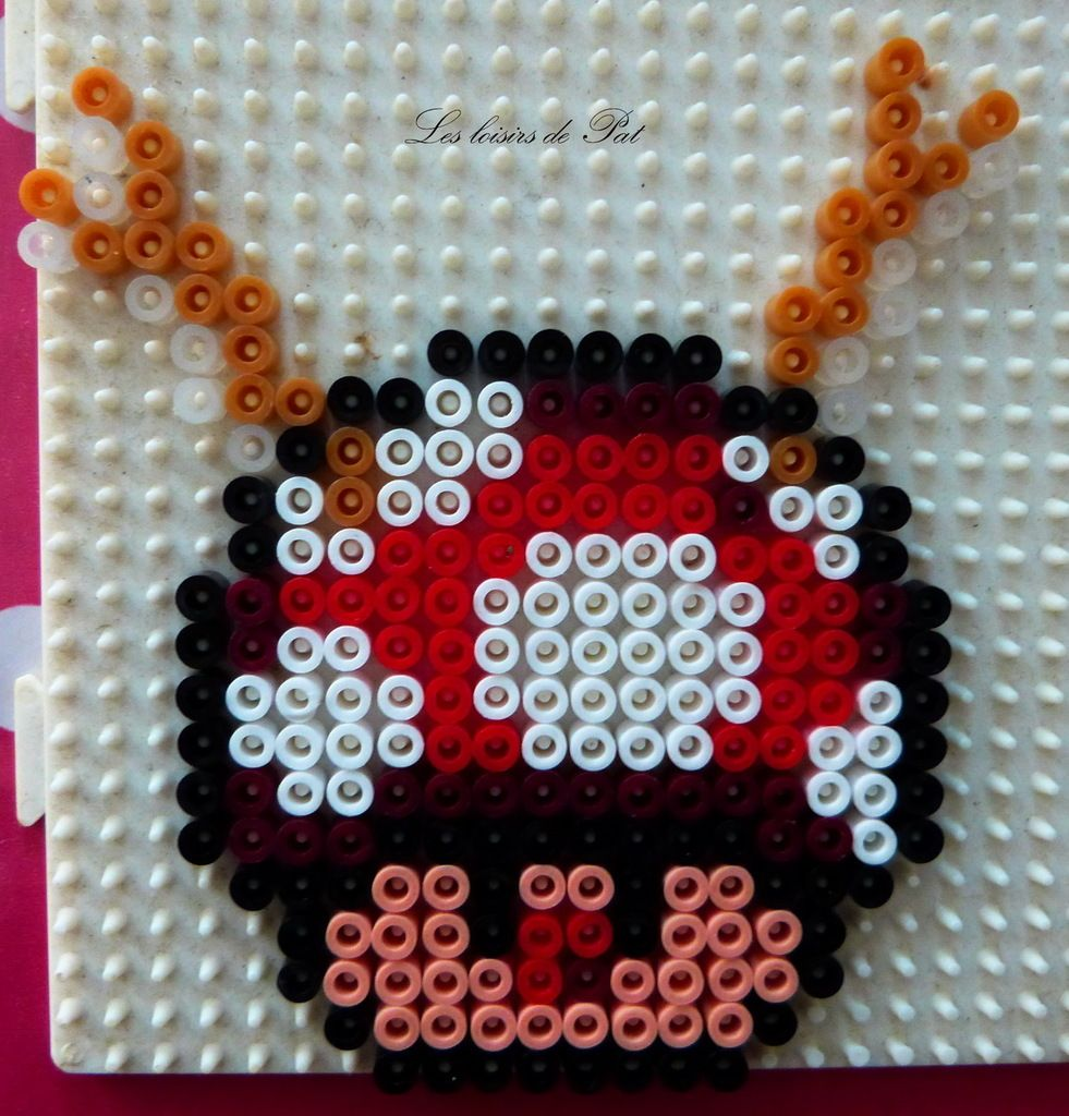 Perles A Repasser Fetes Perle Hama Mario Perle A