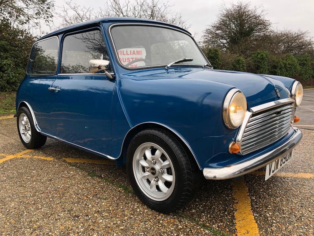 eBay 1973 Austin Mini 1000cc. Teal Blue. Fully restored